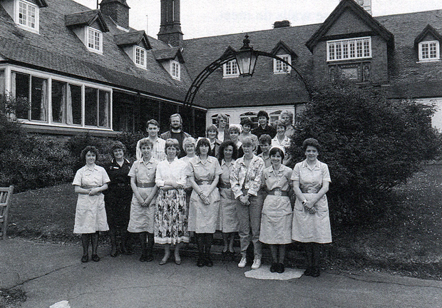 Picture of Frank James Hospital with some of its staff