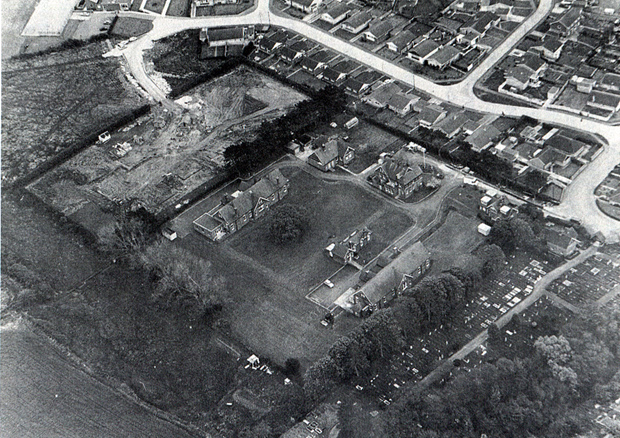 Picture of an aerial view of Fairlee Hospital