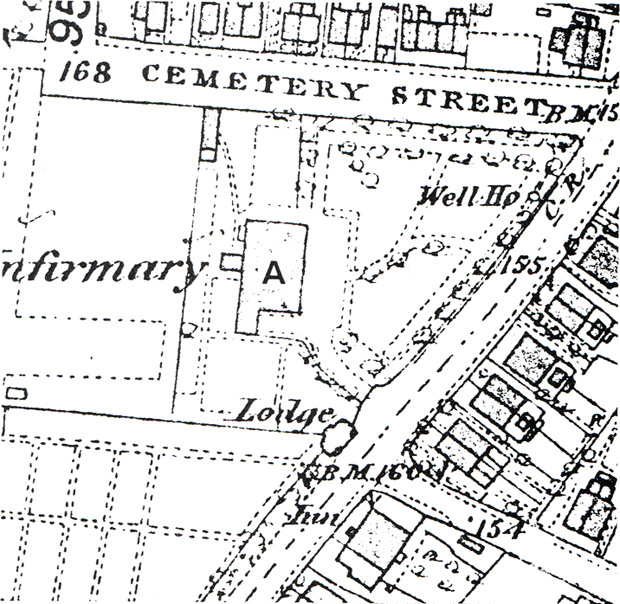 Map of the original hospital layout