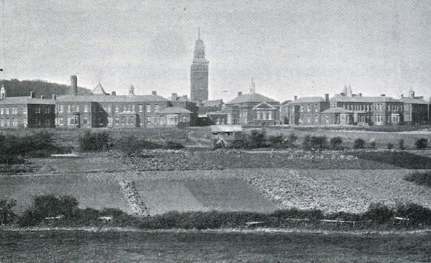 Picture of Whitecroft Hospital. An early view from the south-east.