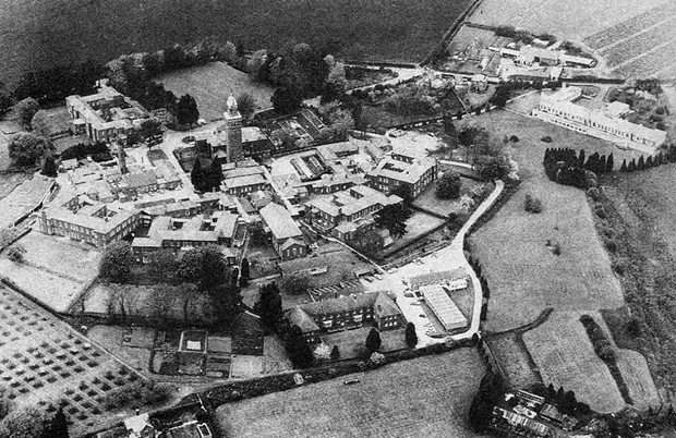 Picture of an aerial view of Whitecroft Hospital