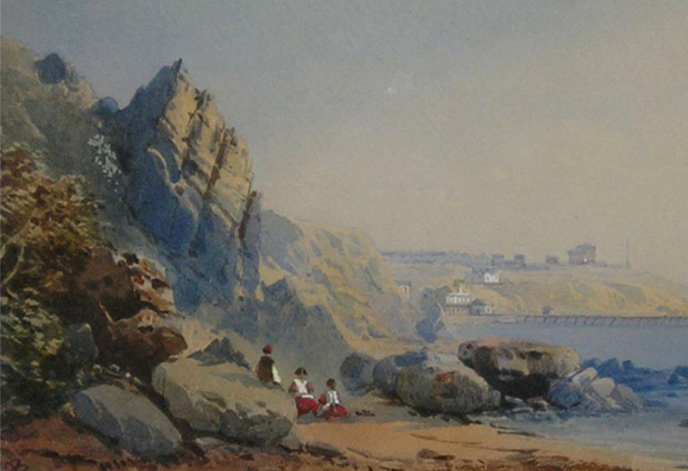 Picture of 'Watercolour: Steephill Bay' - Isle of Wight School early 1800's.