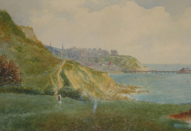 Picture of Watercolour of Ventnor from Flowersbrook' by William Wells Quatermain circa 1860.