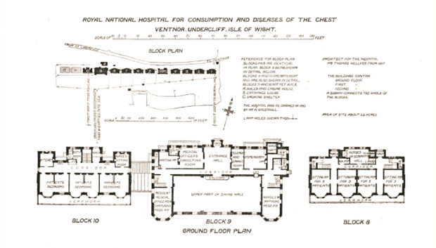 Picture of Architectural layout Blocks 8, 9 and 10 ground floor. RNVH