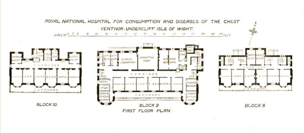 Picture of Architectural layout Blocks 8, 9 and 10 first floor. RNVH