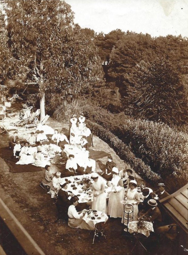 Picture of Ladies enjoying Tea on the Terraces. RNVH