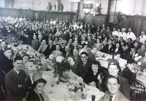Picture of Christmas Dinner. 1951. RNVH.